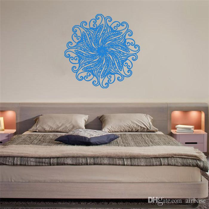 Yoga Mandala Om Indian Buddha Symbol Mehndi Wall Decal Living Room