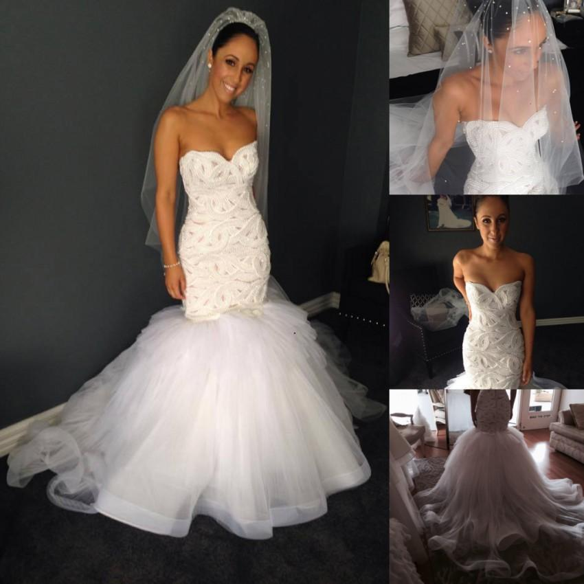 White dresses collection - White pearl wedding dresses