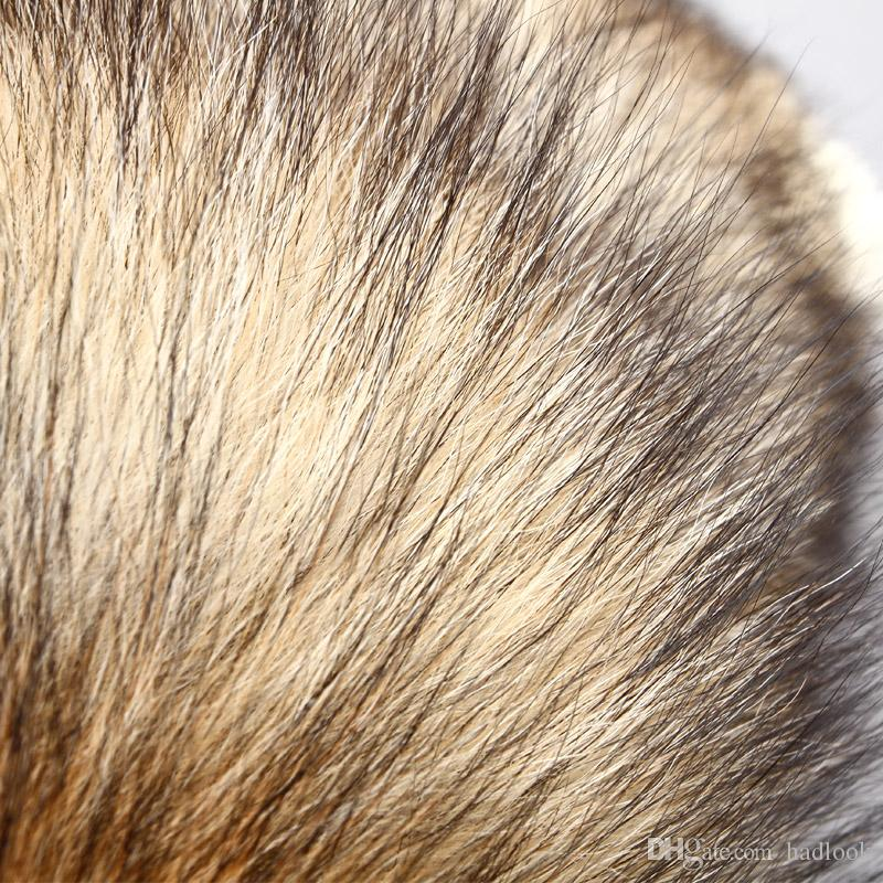 Sun Fox Tail Pendant Tide Fur Keychain Bag Ornaments Fashion Oversized Popular Minimalis