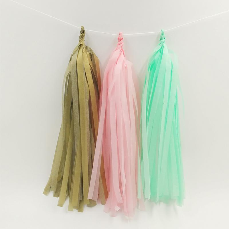 Nicro Mint Green Summer Party Set Pom Pom Tissue Paper Tassel Wall Hanging For Summer/Beach Party Decorations Set wholesale