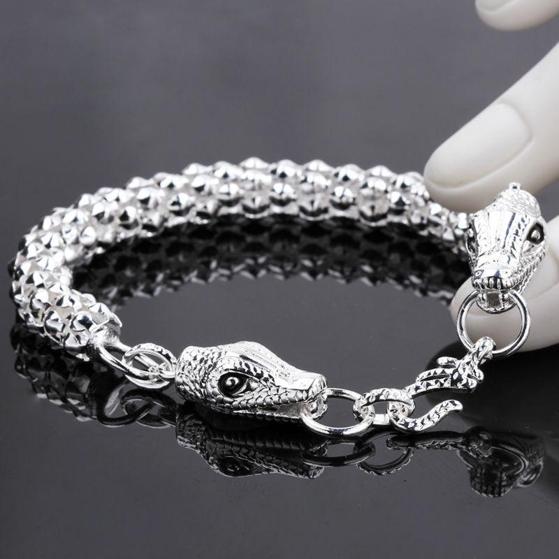 fd5e06f2d894d 2019 2016 New Design 925 Silver Chain Bracelet Fashion Double ...