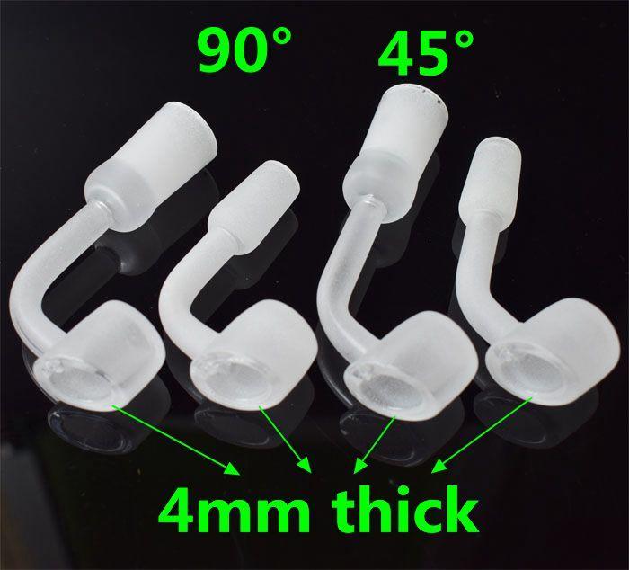 4mm Thick club banger domeless quartz nail 10/14/18mm female male bowl 90/45 Degrees 100% real Quartz Banger Nails free DHL
