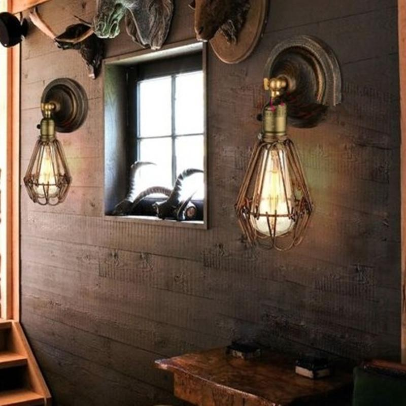 Edison Vintage Wall Light Chandeliers Rustic Wire Cage Hanging Industrial Bedroom Corridor Aisle Lamps From China