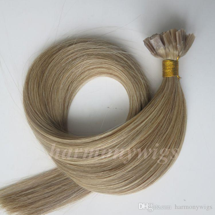 Pre Bonded Flat Tip Human Hair Extensions 50g 50Strands 18 20 22 24inch M8613 Keratin Hair products