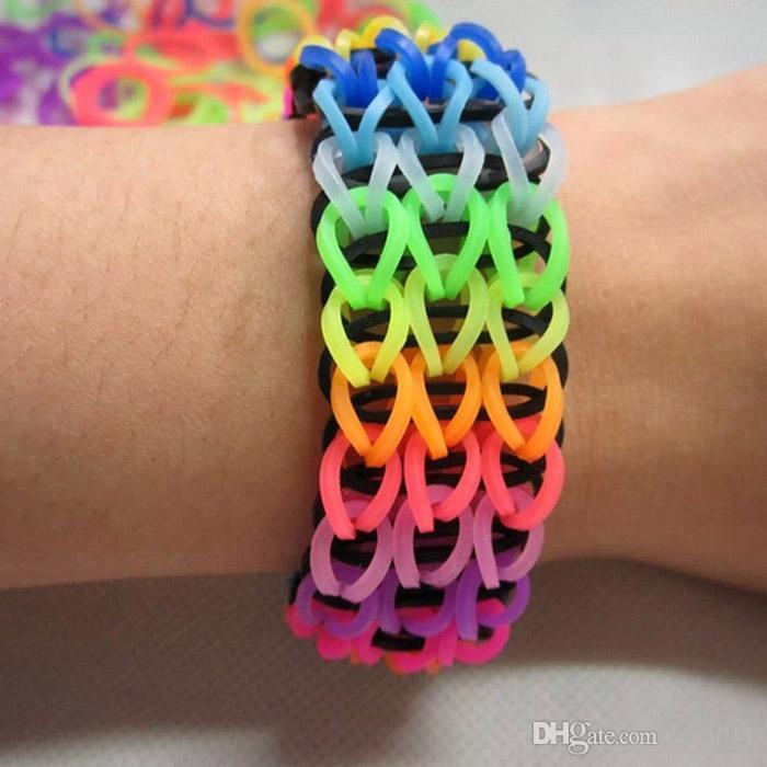 DIY Colourful Assorted Loom Rubber Bands Bracelet Making Kit Set Classy Rubber Band Bracelet Patterns