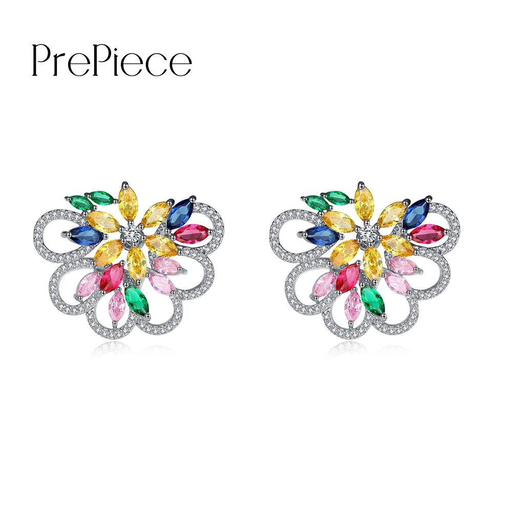 colour color drop index earrings multi