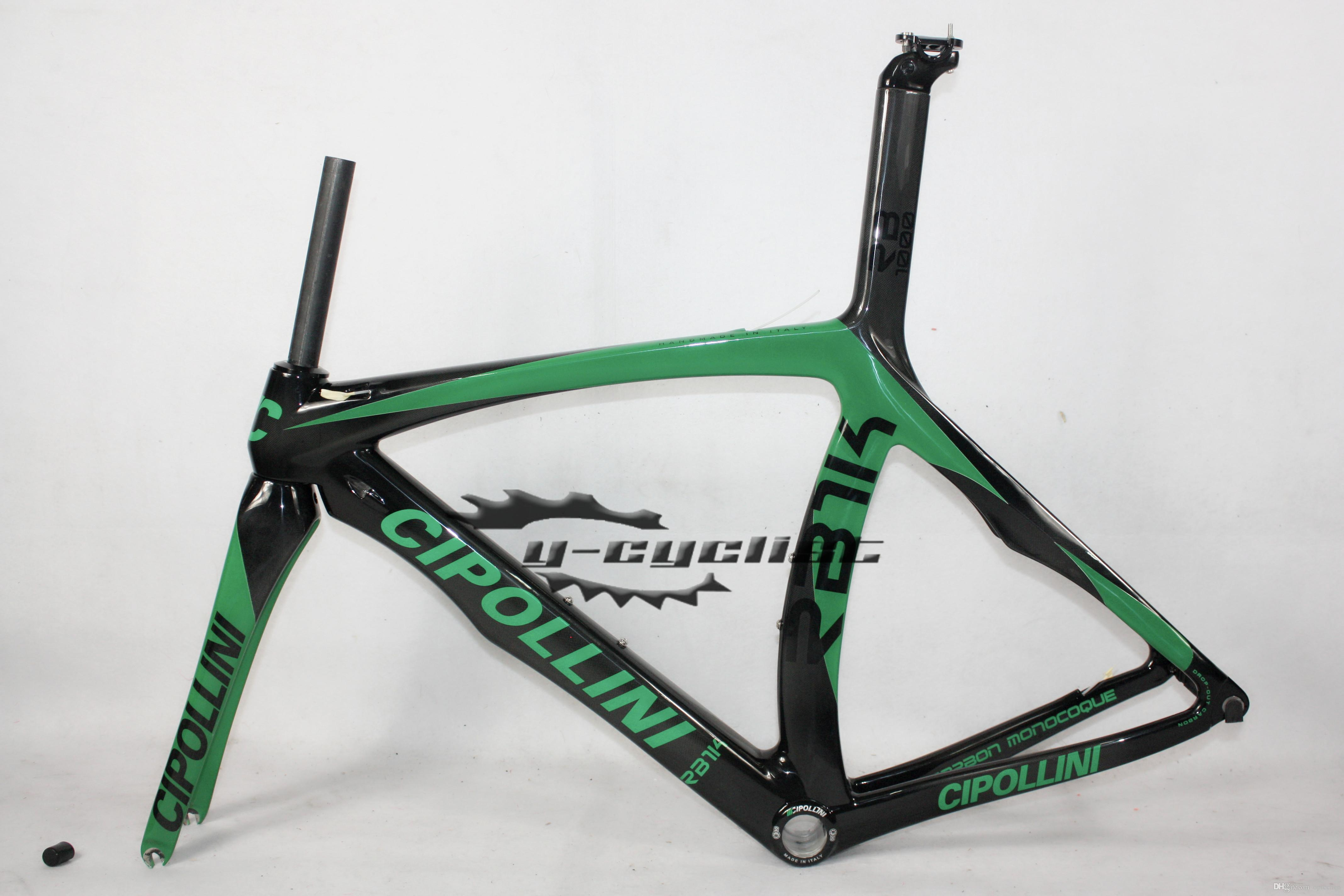 Cheap CIPOLLINI RB1K Carbon Bike Frame Full Carbon Fibre Road Cycling Bicycle Frame Black Green Glod Different Styles Glossy Matt Finish
