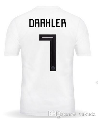 Customized 18-19 New 10 Home Thai Quality Soccer Jerseys Shirts tops,Discount Cheap 9 Werner 7 Draxler 13 Müller 9 Wagner T-shirt wear