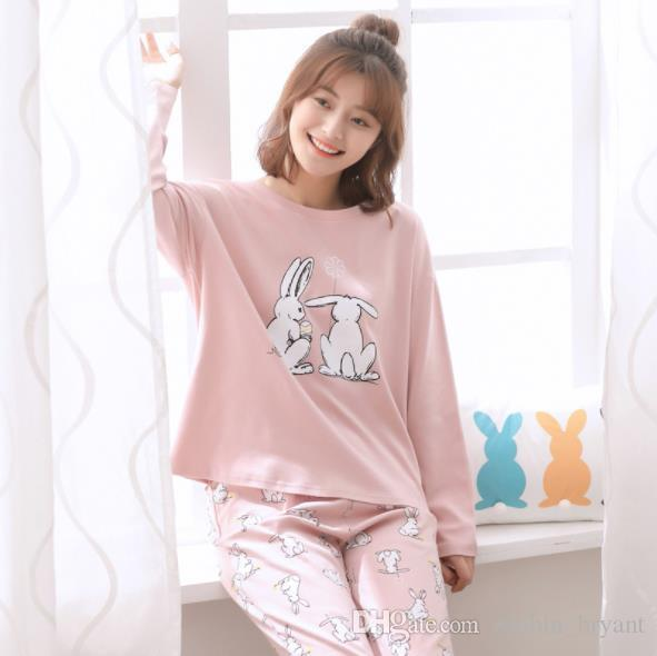 7be9a307383c 2017 Autumn Winter Pajamas Female Pure Cotton Long Sleeve Korean ...