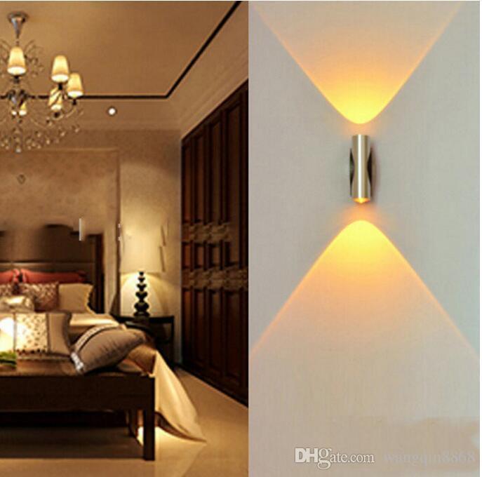 Lampada da parete 4W AC85-265V LED Lampada da parete a LED moderna e creativa con decorazione in alluminio sala studio