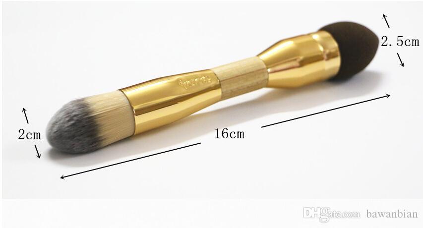 100 % 더블 양면 위장 브러쉬 합성 헤어 메이크업 브러쉬 스폰지 파우더 퍼프 키트 뷰티에 대한 Pinceis Maquiagem