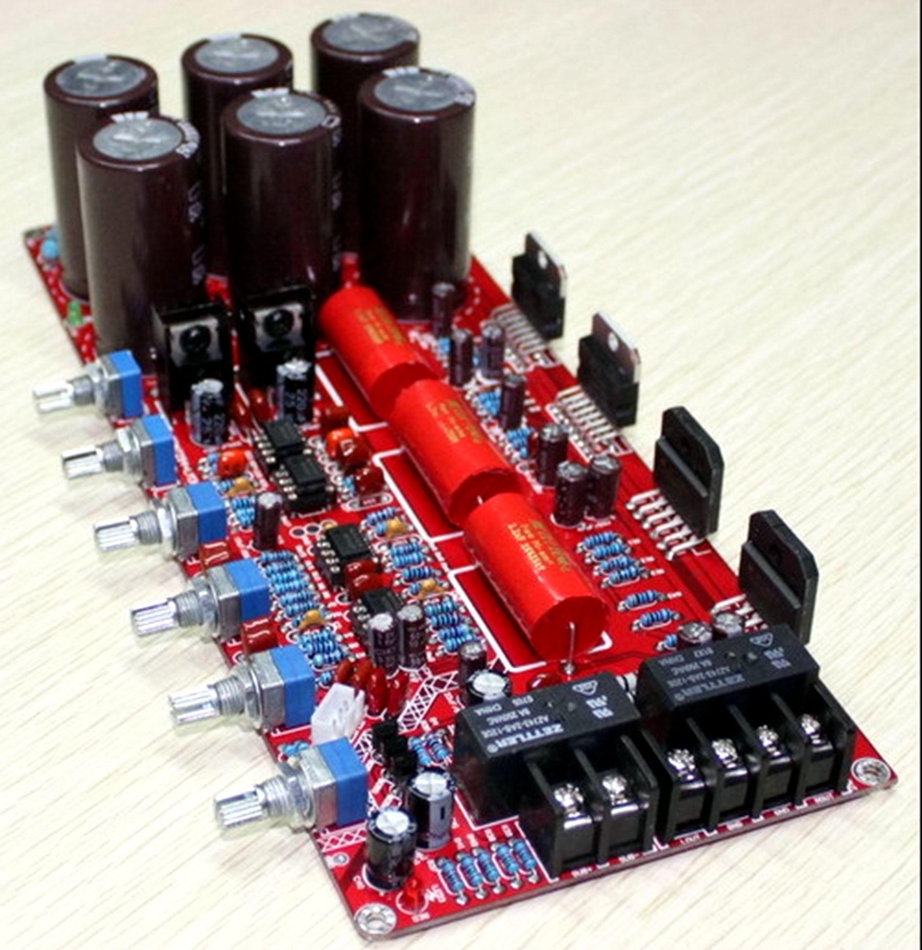 Best Tda7294 Lm3886 21 Perfect Combination Amplifier Board Under Circuit Dynamic Power With Ic Dmos Bridge Potentiometer From Left To Right The Bass Frequencies And Overall Volume Of Channel Treble