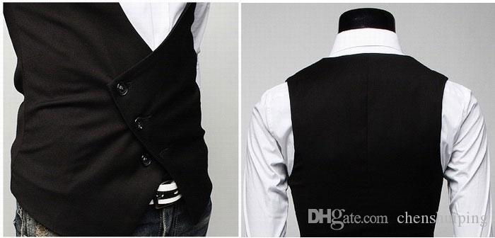 Yeni Moda erkekler casual suit yelek Yelek tankı üstleri erkekler için Kolsuz Ceket Kaban ücretsiz kargo