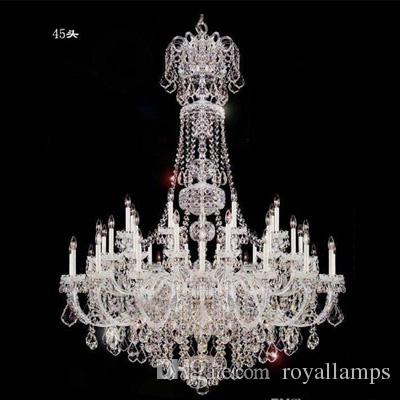 45 arms grand big chandelier church castle white candelabra large 45 arms grand big chandelier church castle white candelabra large crystal chandeliers hotel villa modern long led chandelier lighting pendant stainless aloadofball Image collections
