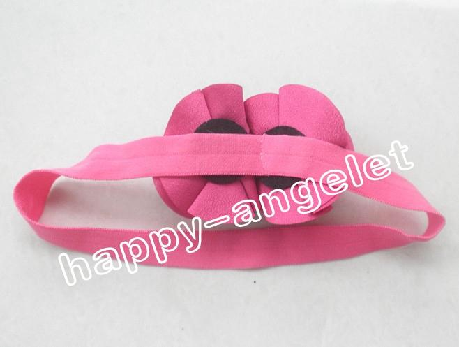 """hair accessories for girls 2"""" Vintage double bows flower combination baby headband flower on stretchy hair band african gele SG8512"""