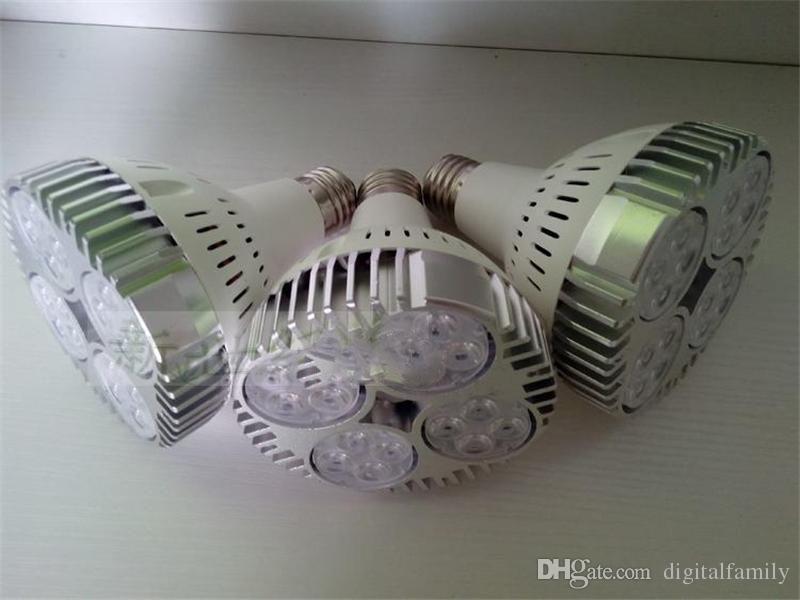 LED PAR30 40 W 50 W LED Spot Par 30 20 led ampul takı giyim mağazası için Fan ile led parça raylı işık müze aydınlatma