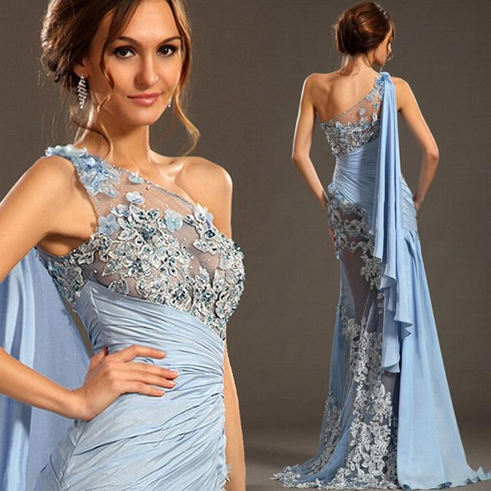 Designer Formal Dresses: 2015 See Through Sexy Evening Gowns Applique Designer