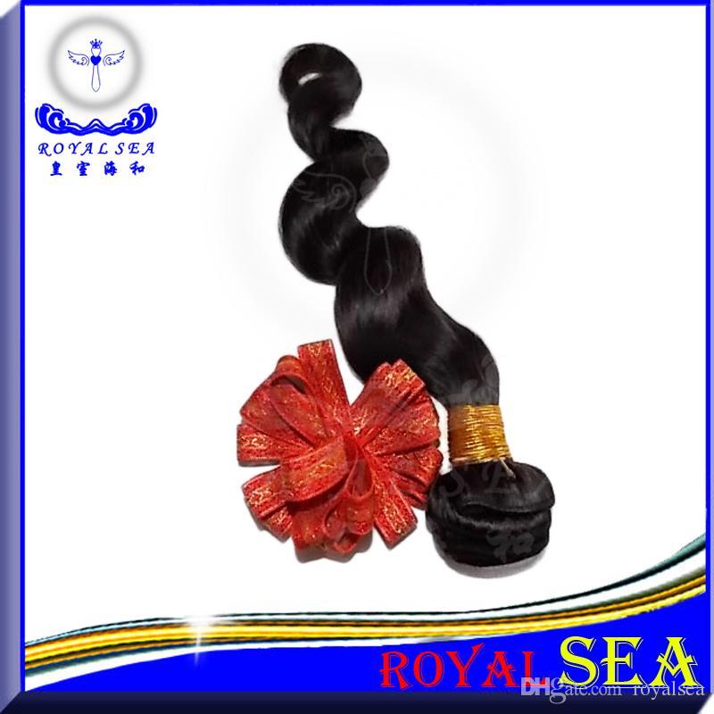 Paquetes de cabello virgen peruano 3 unids / lote 100 g / pcs cabello humano sin procesar teje perlas de cabello virgen de onda suelta peruana negro natural