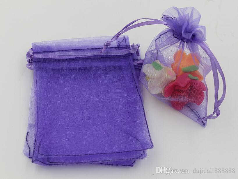 MIC Light Purple Organza Biżuteria Prezent Prezent Torby do ślubu Favors, Koraliki, Biżuteria 7x9cm 9x11cm 13 x 18cm 314
