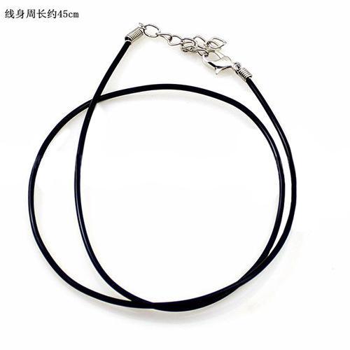 Pelle Black Snake collana borda cavo String Wire Rope estensore di catena 45 centimetri Gioielli fai da te con il catenaccio Componenti