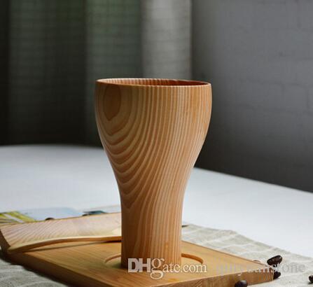 13x8 cm xícaras De Cocktail Pure handwork Eco friendly copos de madeira natural utensílios de cozinha canecas garrafa clássica garrafa de água de presente