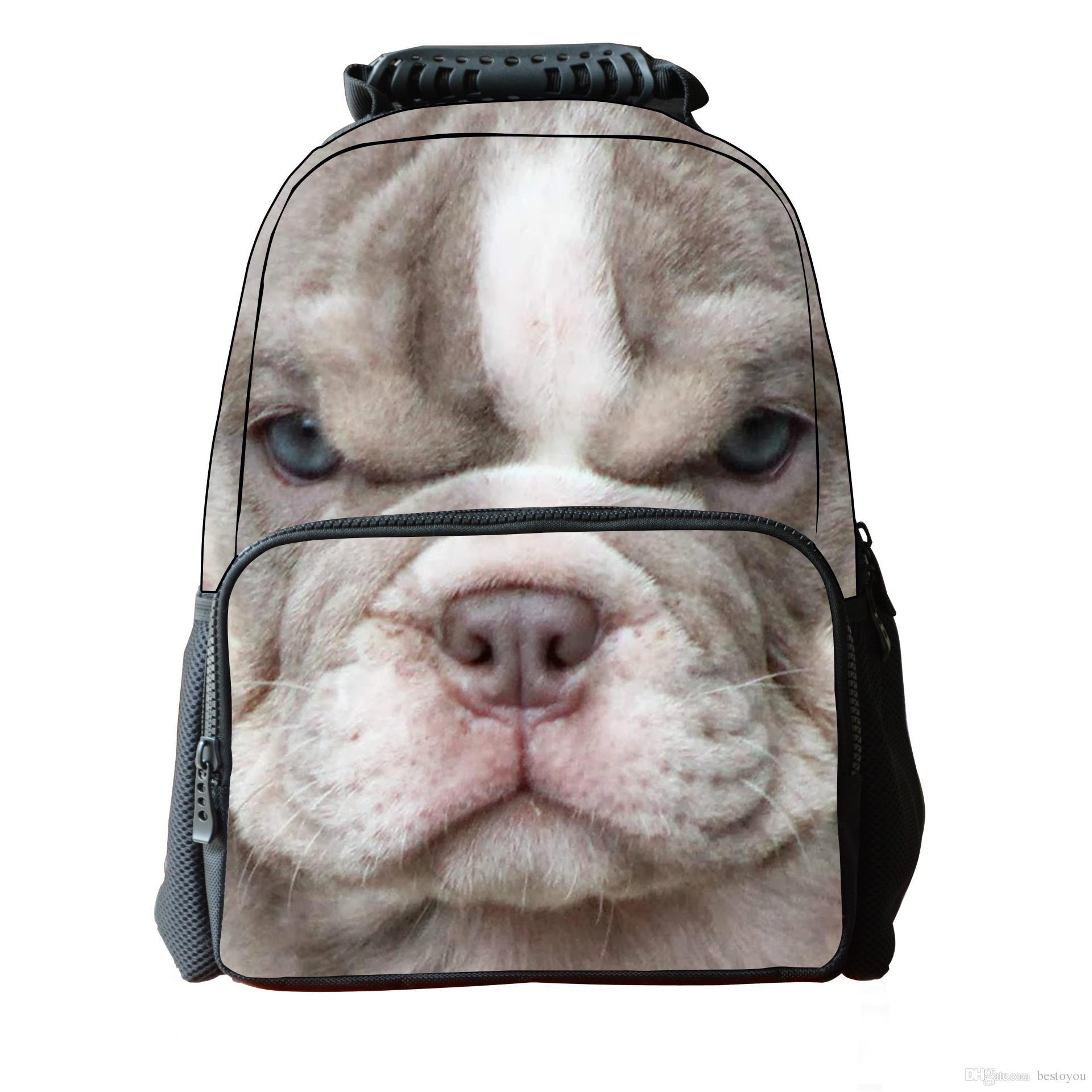 3d animal bags dog print felt fabric hiking daypacks uni school