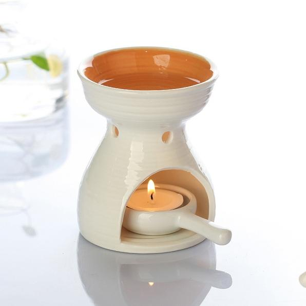 Wholesale- Dia 8 5 * Height 11cm Color Ceramic Fragrance Oil Burner  Essential Oil Furnace Air Freshener Containers DC813
