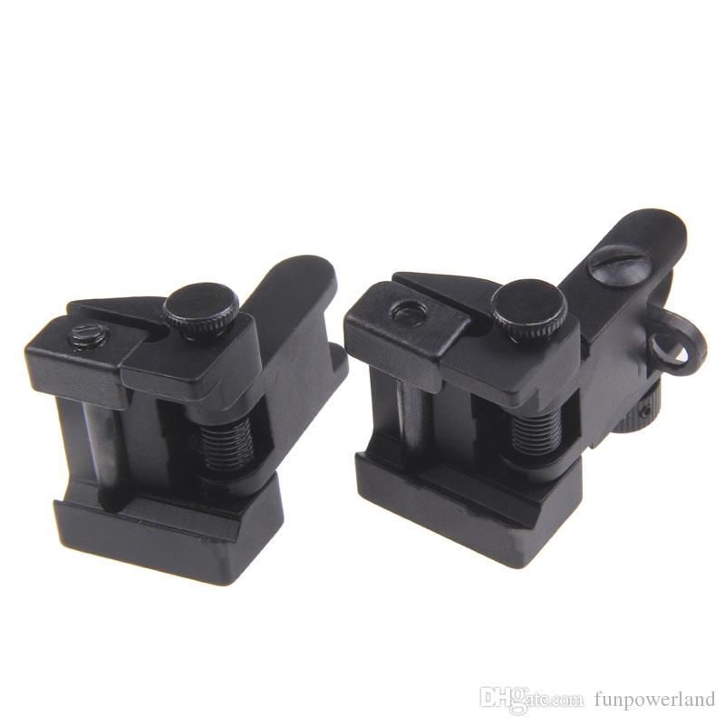 Funpowerland High quality Hunting Tactical Arms Gear Precision AR15 Airsoft Flip Up Front and Rear Back up Iron Sight