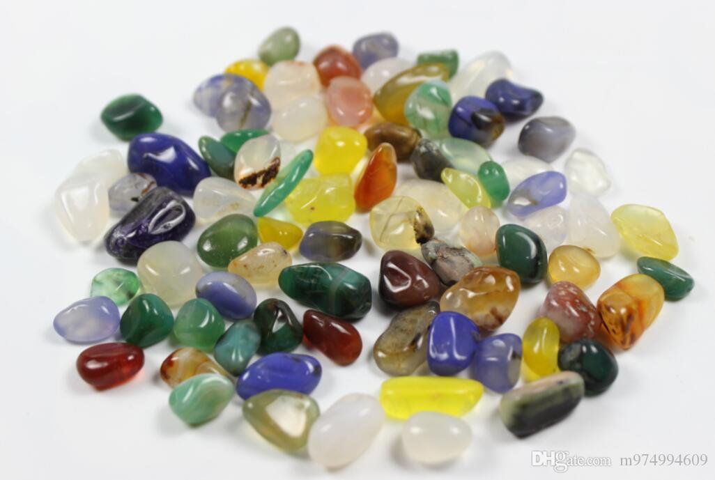 50g Natürlicher Regenbogen Achat Kies Holiday Geschenk Quarz Bunte Kristall Rock Chips Degausschläge Liebe Steine Polierte Mineralien Fischtank Stein