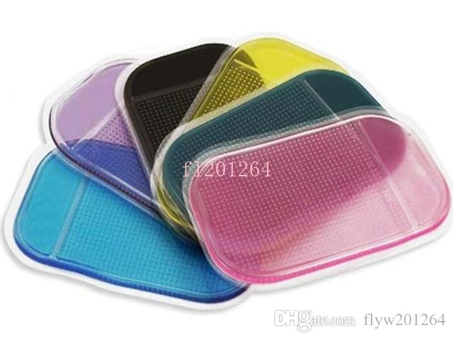Livraison Gratuite Puissante Magie Sticky Pad Anti Slip Non Slip Mat Pour Téléphone PDA mp3 mp4 Accessoires De Voiture 6 couleurs, /