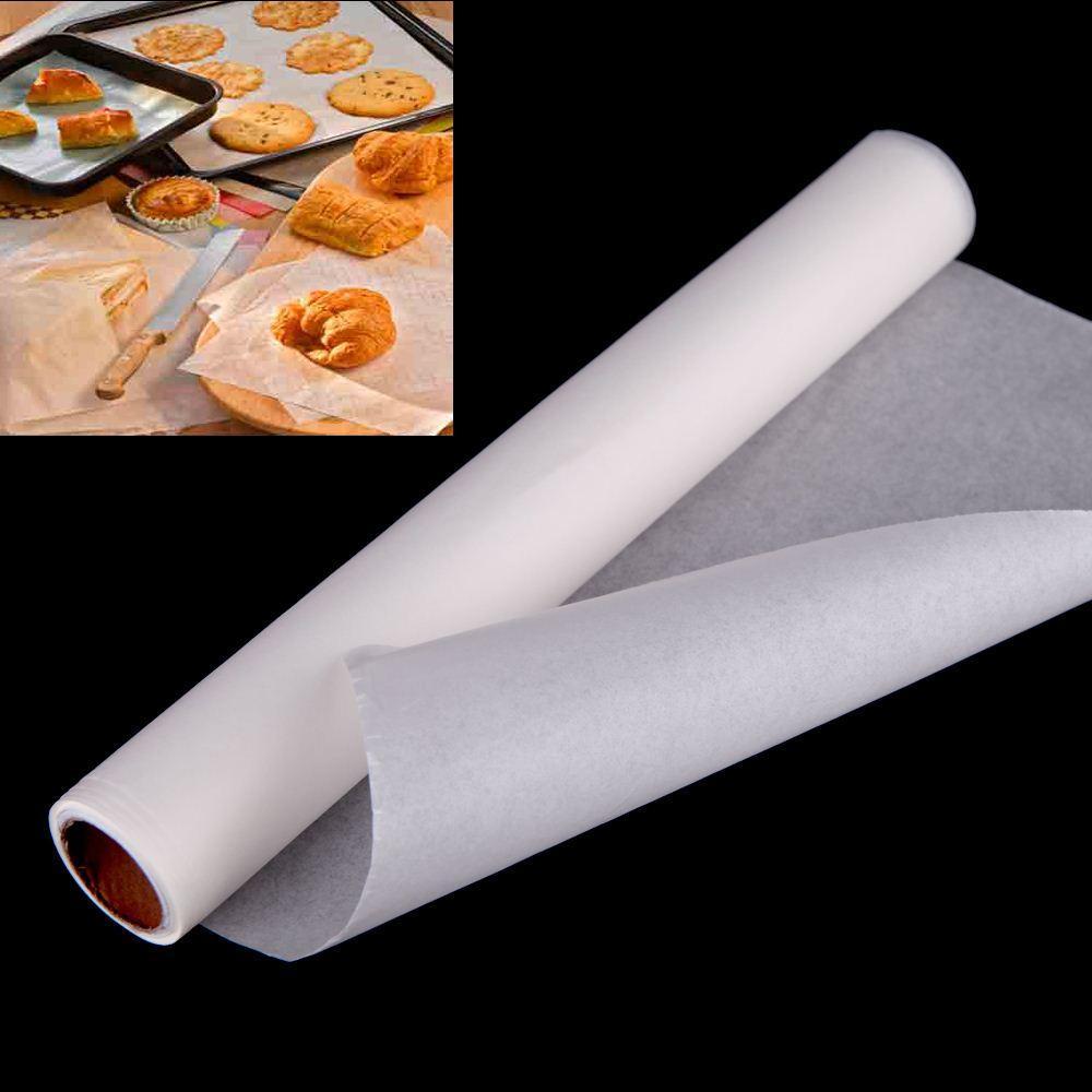 10 * 0.3 m Yapışmaz Parşömen Pişirme Kağıt Levha Rulo Pişirme için 425F Pişirme Barbekü Pişirme Araçları Mutfak Aksesuarları sipariş $ 18no parça