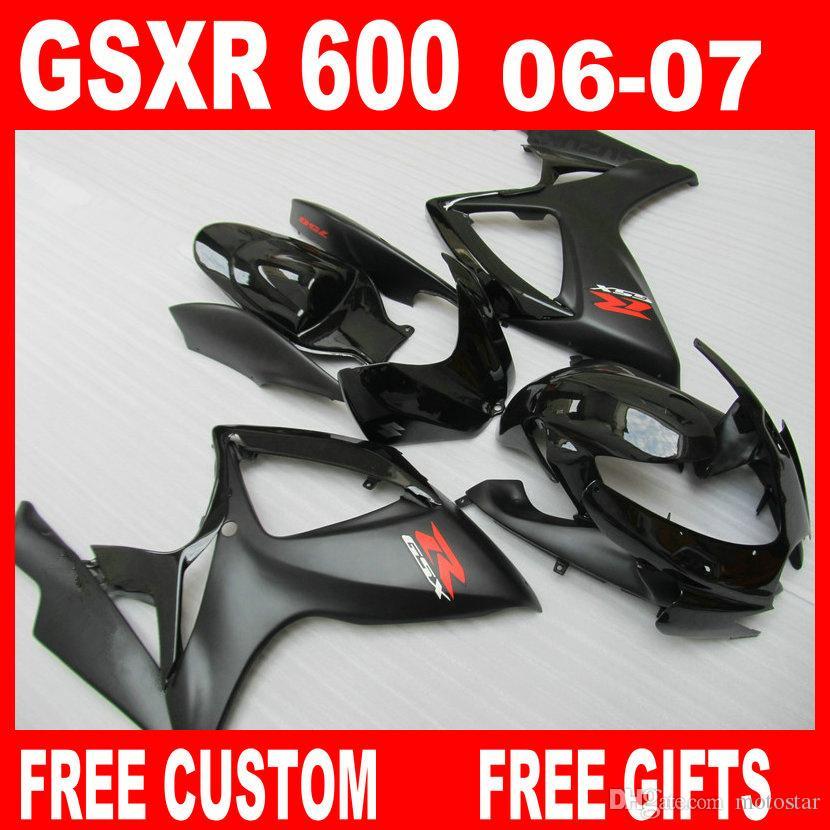 OEM 100% fit for suzuki GSXR 600 fairings 2006 2007 Injection molding GSXR  750 fairing kit GSXR600 GSXR750 06 07 body repair parts