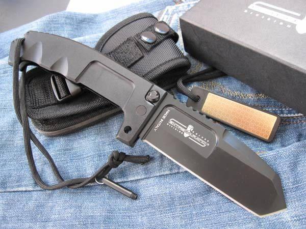 Extrema Ratio Cuchillo plegable táctico RAO 440C hoja 57HRC cuchillo de combate de bloqueo de eje con embalaje de caja de regalo