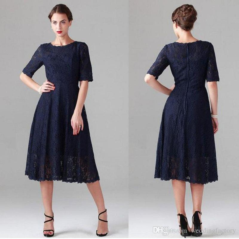 Tea Length Dresses Sleeves