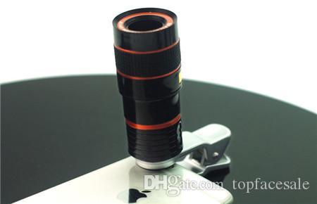 Yeni Lüks 5 1 HD 8X Optik Zoom Telefoto Teleskop Geniş Açı Makro Balıkgözü Telefon Lens Büyütme Lensler