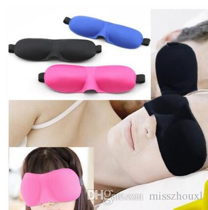 3D Schlafmaske Travel Rest 3D Sponge Eye Maske schwarz Schlaf Augenmaske Abdeckung für die Gesundheitsvorsorge, um das Licht zu schützen