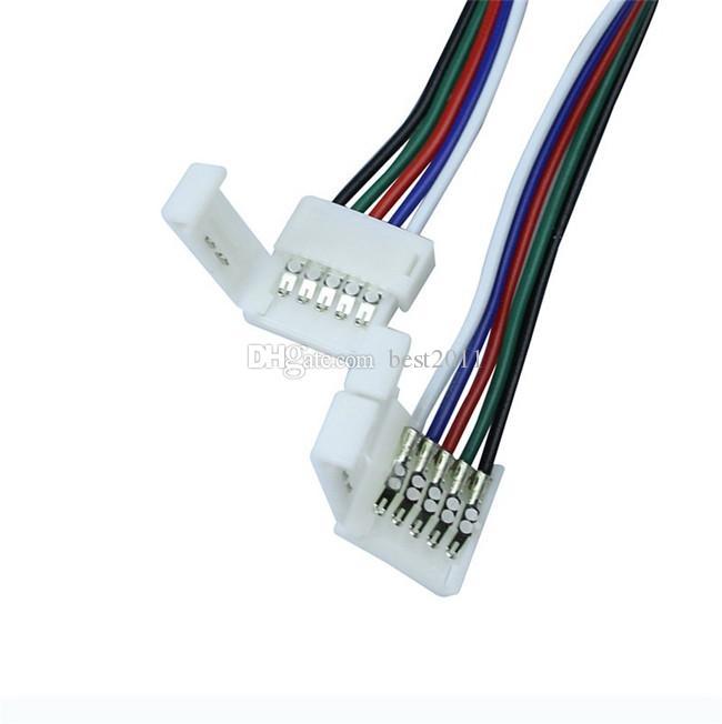 12mm Lehimsiz 5Pin 1 Klip RGBW 5050 SMD LED RGBW Şerit Ücretsiz Nakliye için Kablo Konektörü Uzatın