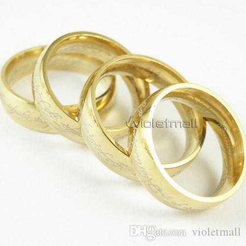 Rings Supreme Lord of the Rings Stainless Steel Gold Ring Fashion