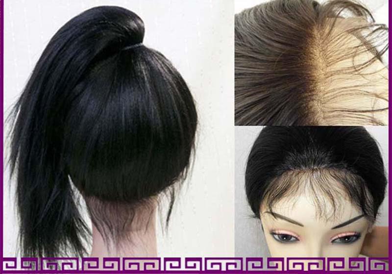 자연 헤어 라인 브라질 글루리스 glueless 전체 레이스 표백 노트 라이트 구이 직선 인간의 머리 레이스 앞 가발 블랙 여성 가발