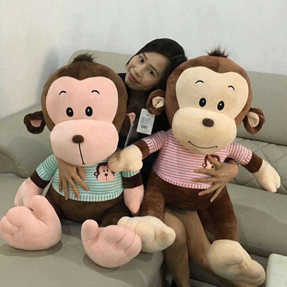 2019 New Jumbo Plush Animal Monkey Doll Giant Stuffed Soft Cartoon