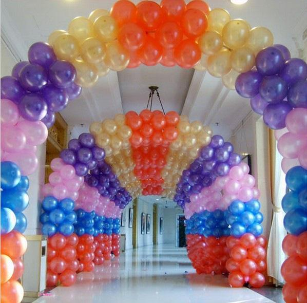 10 Inch Colorful Latex Balloon Air Balls Inflatable Wedding Party Decoration Birthday Kid Party Float Balloons Wholesale