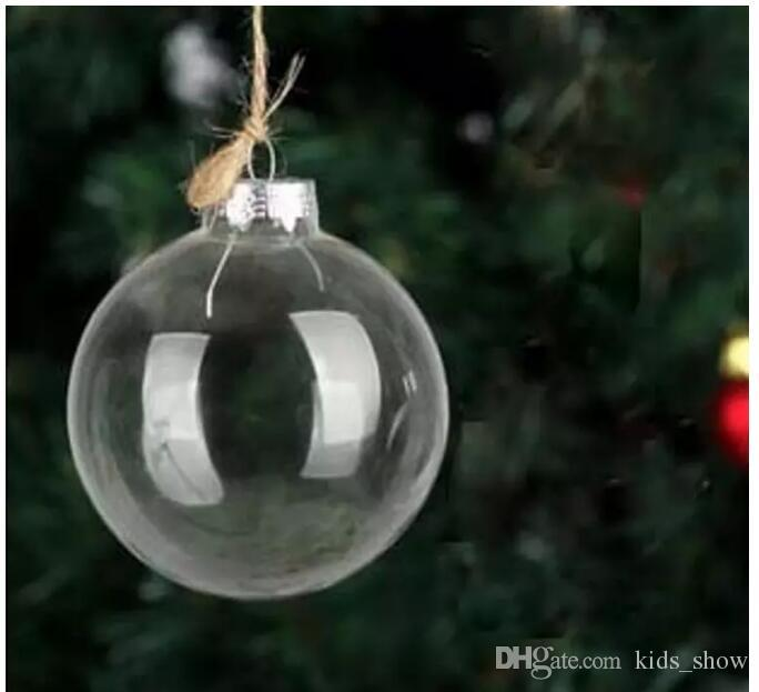 Wedding Bauble Ornaments Christmas Xmas Glass Balls Decoration 80mm Christmas Balls Clear Glass Wedding ballsChristmas Tree Glass Balls