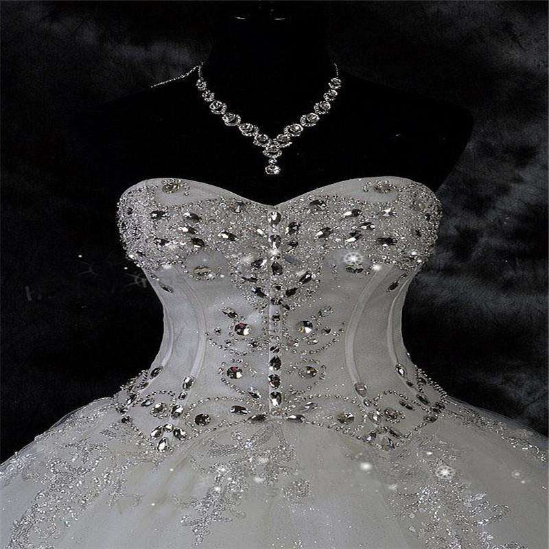 Robe De Dentelle strass Mariage Taille Plus robe de bal de mariage Robes de mariée 2020 Robes de mariée Robe De Novia
