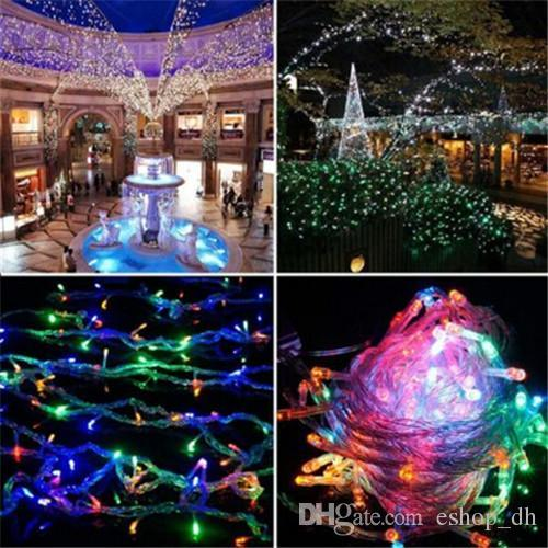 50m 400 led string fairy light waterproof outdoor colorful led xmas christmas light for wedding christmas party holiday orange led string lights lights