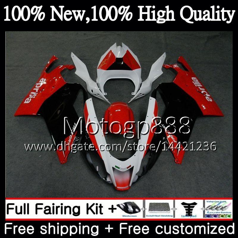 Corpo para Aprilia Vermelho Branco BLK RSV1000R Mille RSV1000 RR 03 04 05 06 2G815 RSV1000 RSV 1000R 2003 2004 2005 2006 Motocicleta Fairing Bodywork