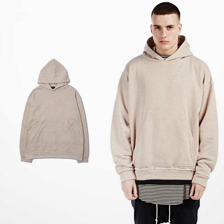 7d0448991 Kanye West Men's Oversized Hoody Sweatshirts Man Hip Hop Beige Hoodies Man  Fashion Winter Sudaderas Hombre Pullover
