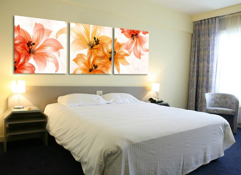 Art sets flower wall canvas paintings wall decorations bed for Cuadros para poner fotos