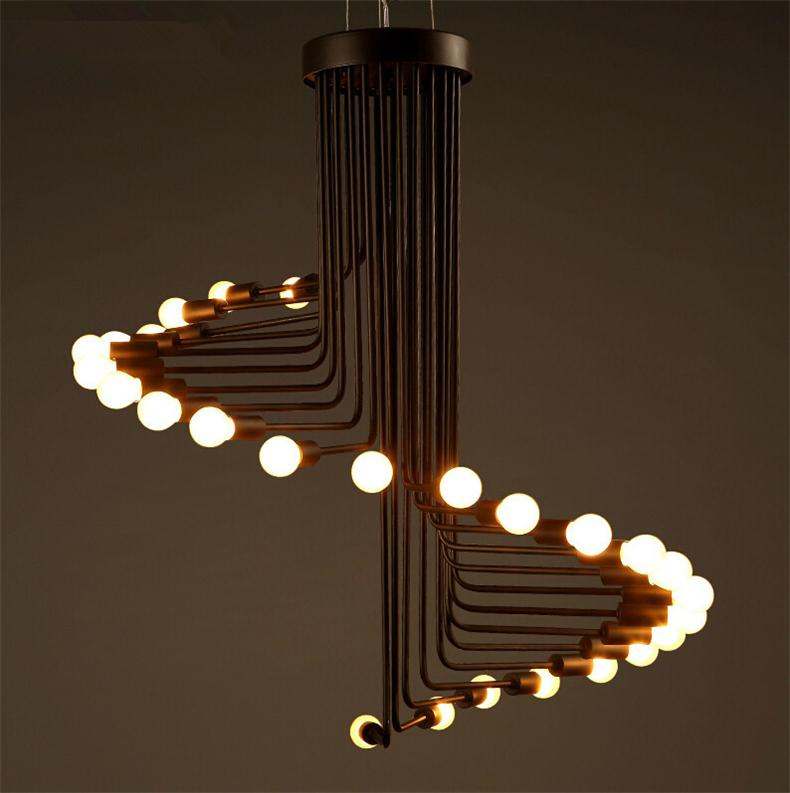 decorative pendant lights. Discount Fashion Loft Retro Pendant Light Simple Creative Living Room Cafe  Bar Spiral Stair Lamp Unique Lighting Decorative