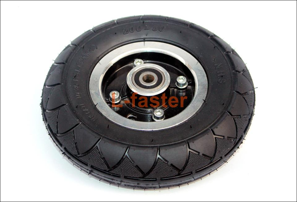 """200x50 Electric Scooter Solid Wheel No Air 8 Inch Scooter Wheel With Solid Tire Alloy Hub 8"""" Trolley Caster No Need Inflate"""