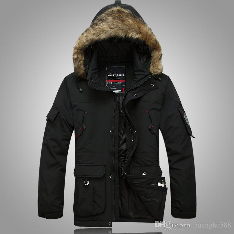 2017 New Men'S Down Jacket Hat Young White Duck Down The Long ...